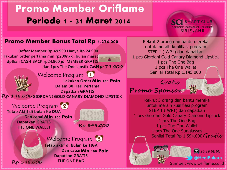 Daftar Member Oriflame Maret 2014