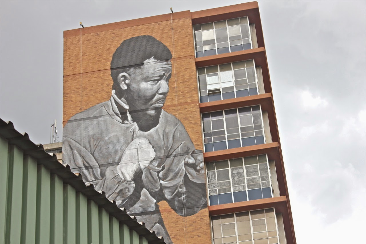 """I am Because We Are"" New Street Art Tribute to Nelson Mandela in Johannesburg, South Africa. 3"