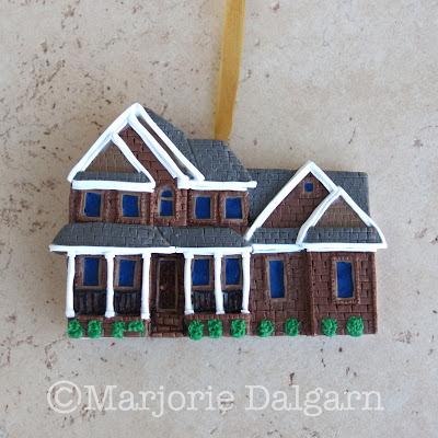 custom house ornament | livingwiththreemoonbabies.blogspot.com