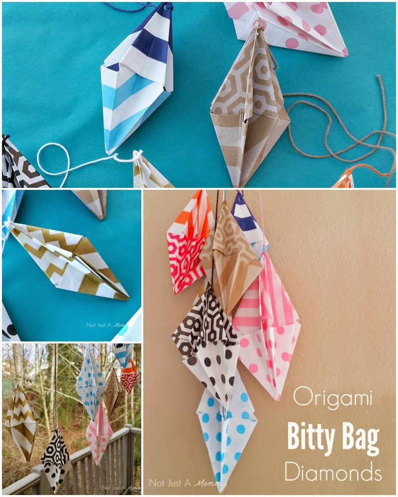 Decorate your party space with Origami Bitty Bag Diamonds
