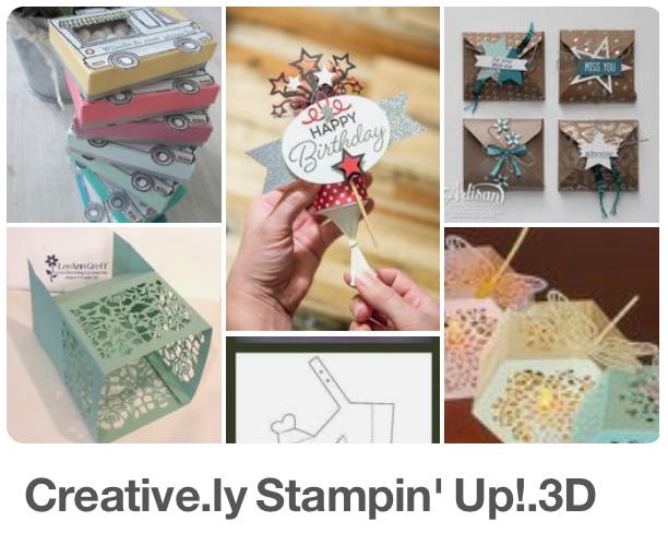 Creative.ly Stampin' Up! 3D Pins