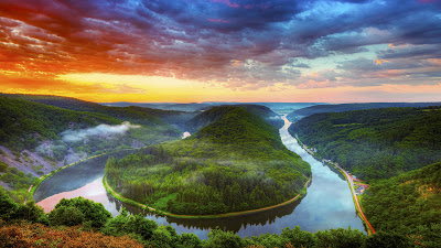 Saar River Saarlouis Full HD Nature Background Wallpaper for Laptop Widescreen