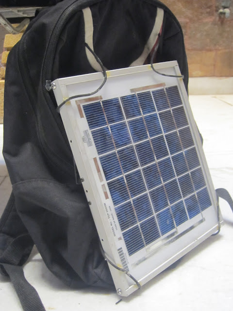 Solar Backpack with Solar Mobile phone charger