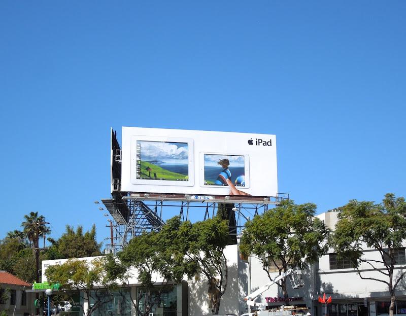 Apple iPad finger painting billboard