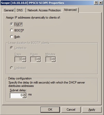 DHCP Network Access Protection