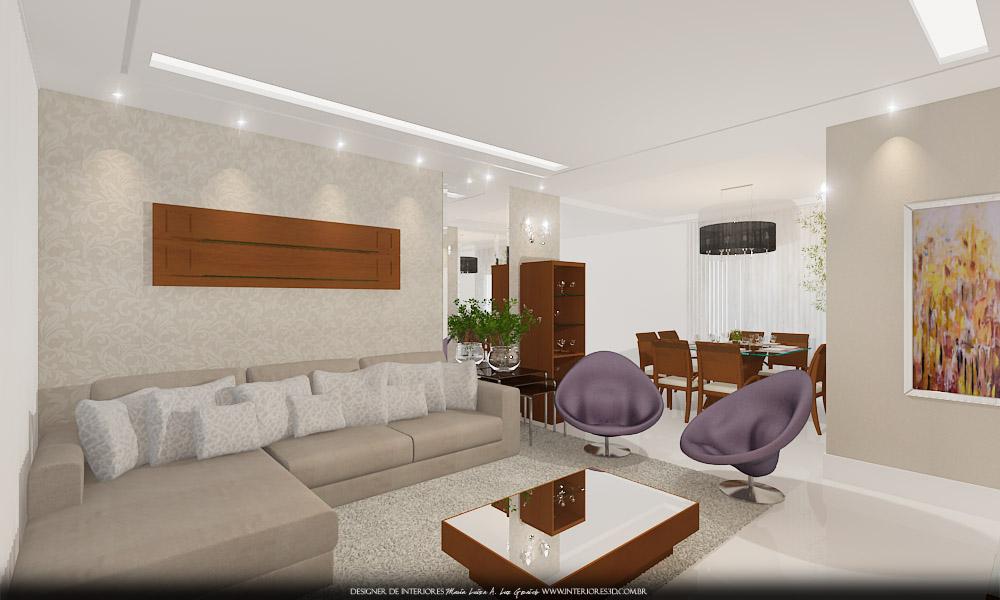 De tv sala de jantar cozinha integrada lavanderia e for Sala de estar kawaii