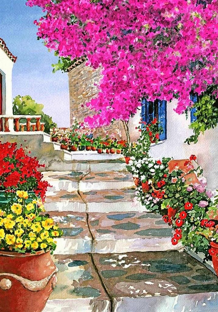 Cuadros modernos pinturas y dibujos cuadros de flores - Ver colores de pinturas ...