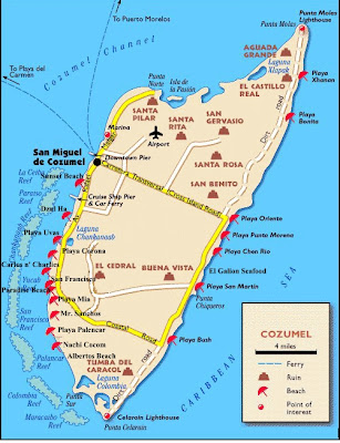 Map of Cozumel City Area