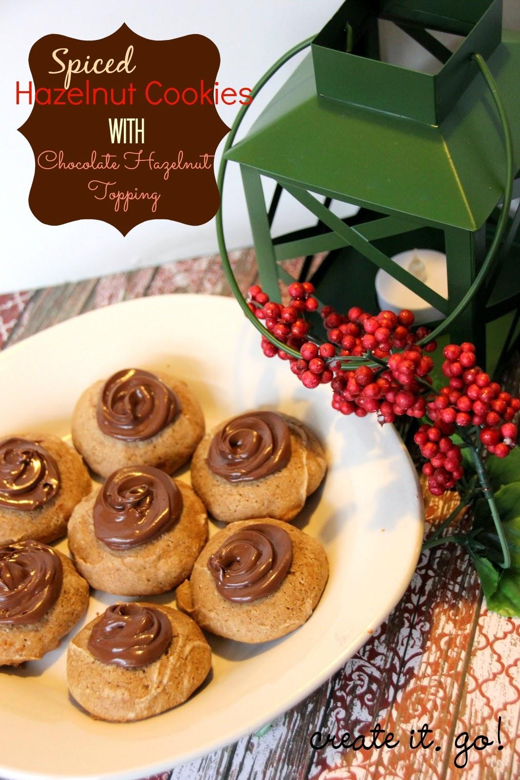 Spiced Hazelnut Cookies with Chocolate Hazelnut Topping ...
