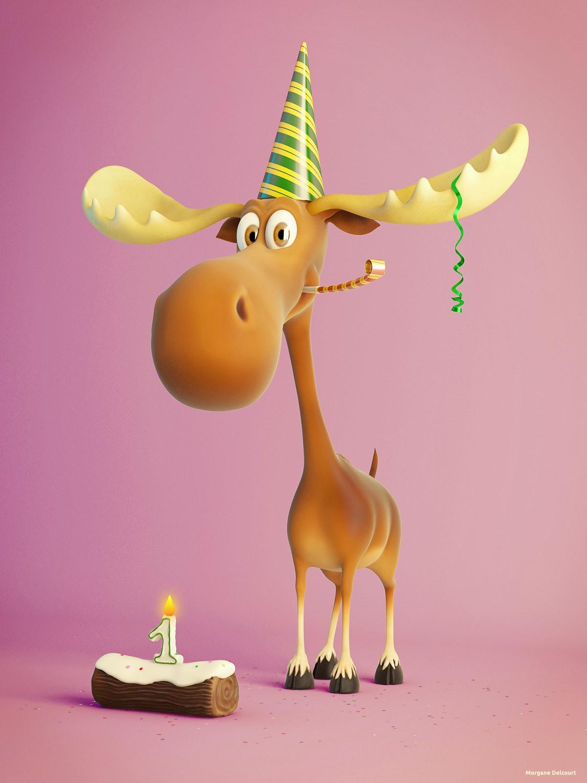Поздравление с днем рождения мужчине про лося