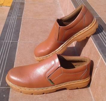 Sepatu Safety Pantofel Kulit