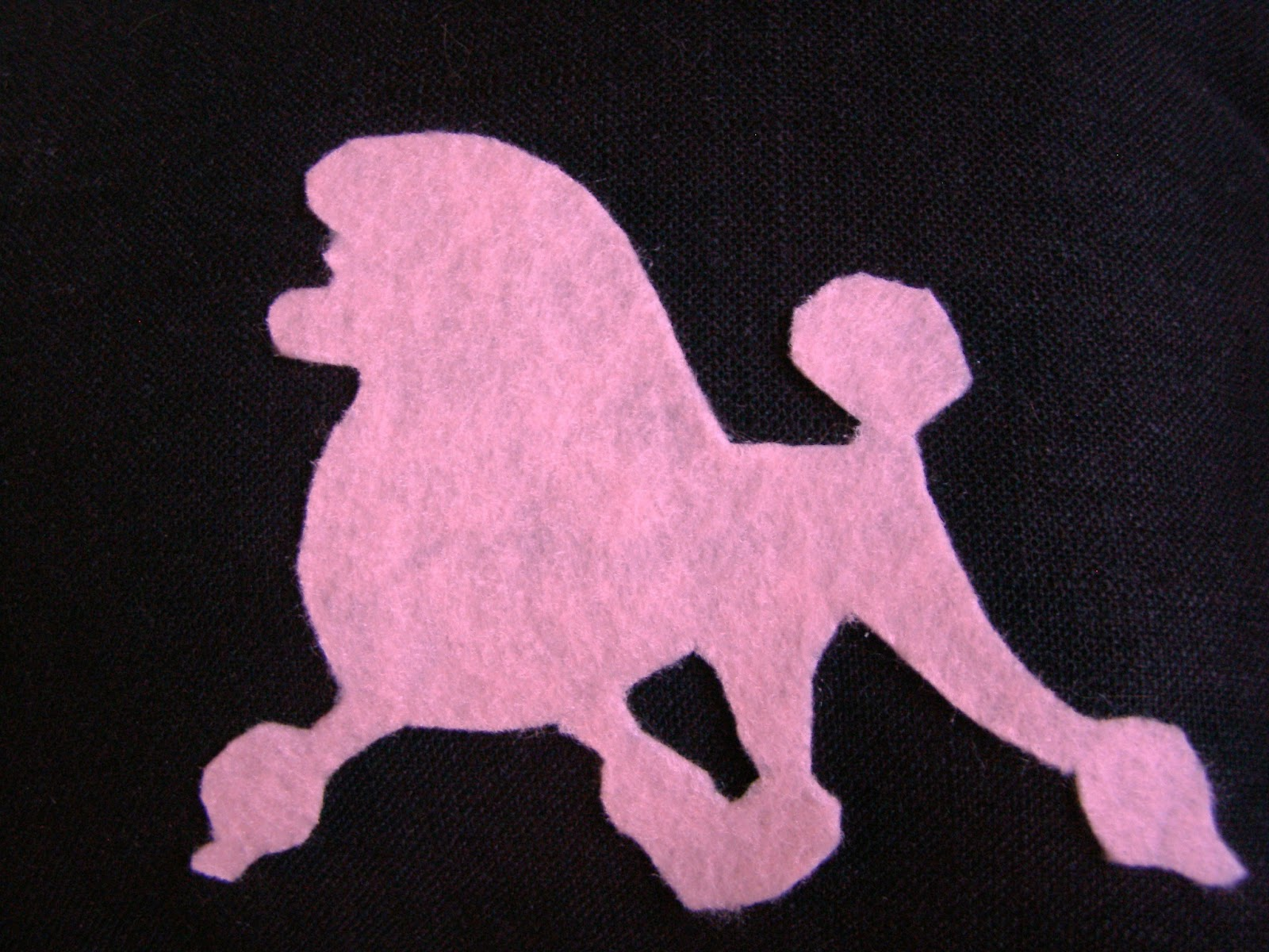 Poodle Silhouette Pink poodle
