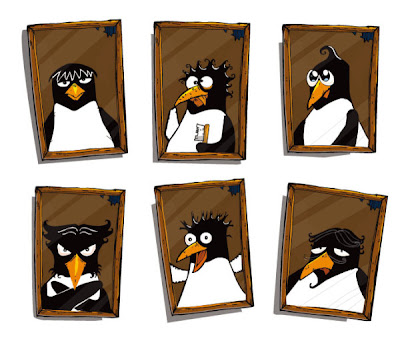 download penguin frame material, classical, wedding photo studio, photo, downloads, previews