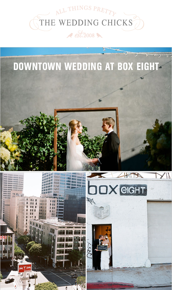 Downtown Wedding Featured on The Wedding Chicks