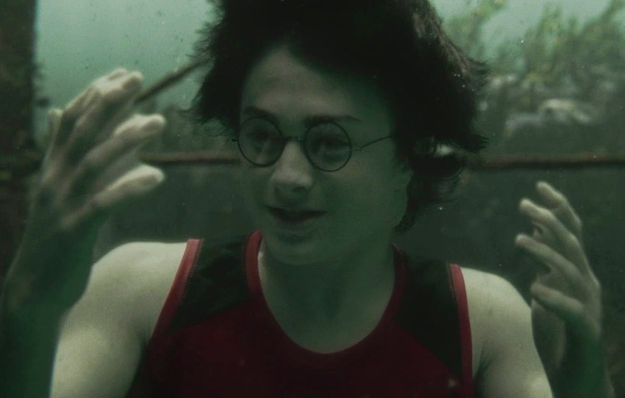 100. It's quite eery underwater. We see Fleur for a brief moment and ... Webbed Hands