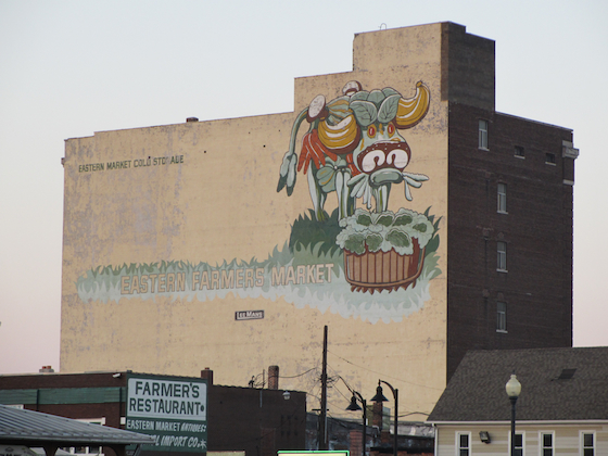 Building in Eastern Market Detroit