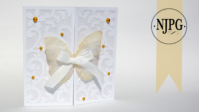 Glitter Tricks, Butterfly Flourish Gate Fold Card, Daniela Angelova, SVG cuts, Slihouette Studio, Glitter, Cards, Handmade,
