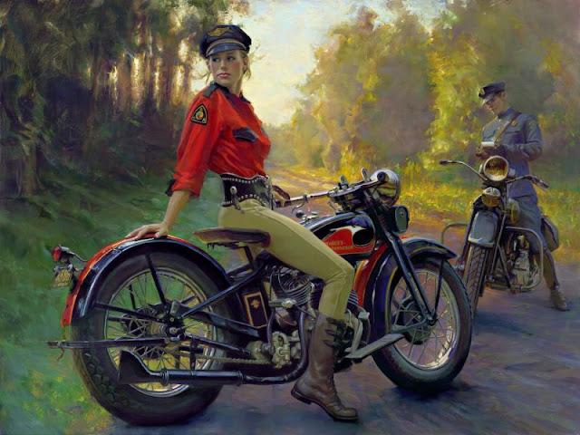 David Uhl  - The Woman of Harley Davidson, David Uhl - Evelyn,