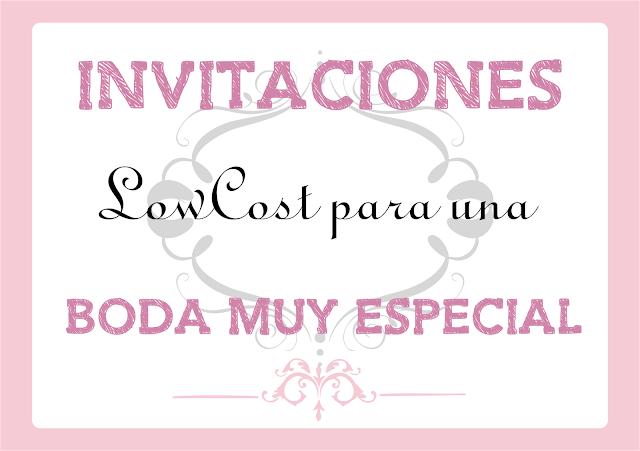 Imprimibles de Invitaciones de Boda Lowcost