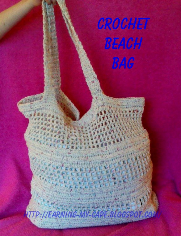 Crochet Beach Bag : Earning-My-Cape: Crochet Beach/Market Bag
