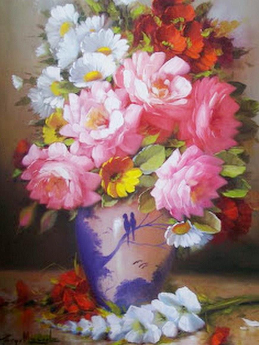 Pintura moderna y fotograf a art stica fotos de cuadros de flores al leo jorge maciel brasil - Fotos y cuadros ...