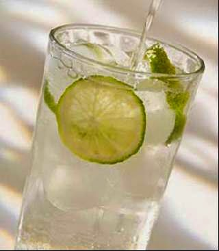 soda chanh glass