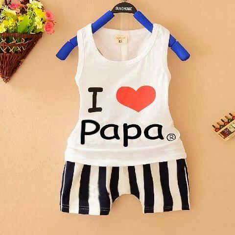 Setelan Anak I Love Papa - Baju Apinigo - Harga Saudara