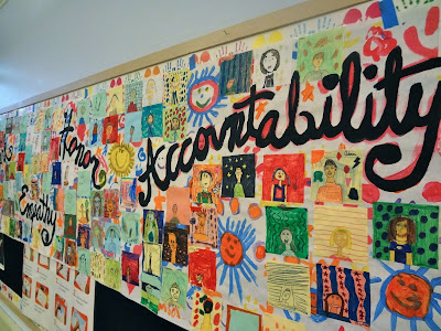 Collaborative kids mural, collaborative art project