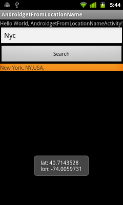 get latitude and longitude from android.location.Address
