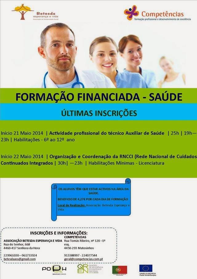 Formação gratuita para ativos na área da Saúde – Matosinhos