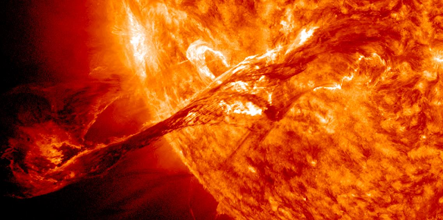 Coronal Mass Ejection (CME). Credit: NASA