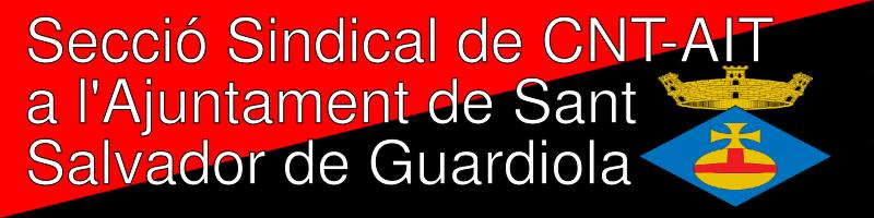 CNT-AIT a l'Ajuntament de Sant Salvador de Guardiola