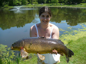 Lindsay With A Pond Carp