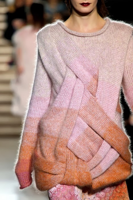 Entrelac Knitting Patterns Sweater : The Knitting Needle and the Damage Done: runway knitwear