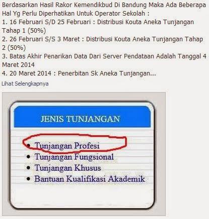 Informasi Tunjangan Profesi 2014