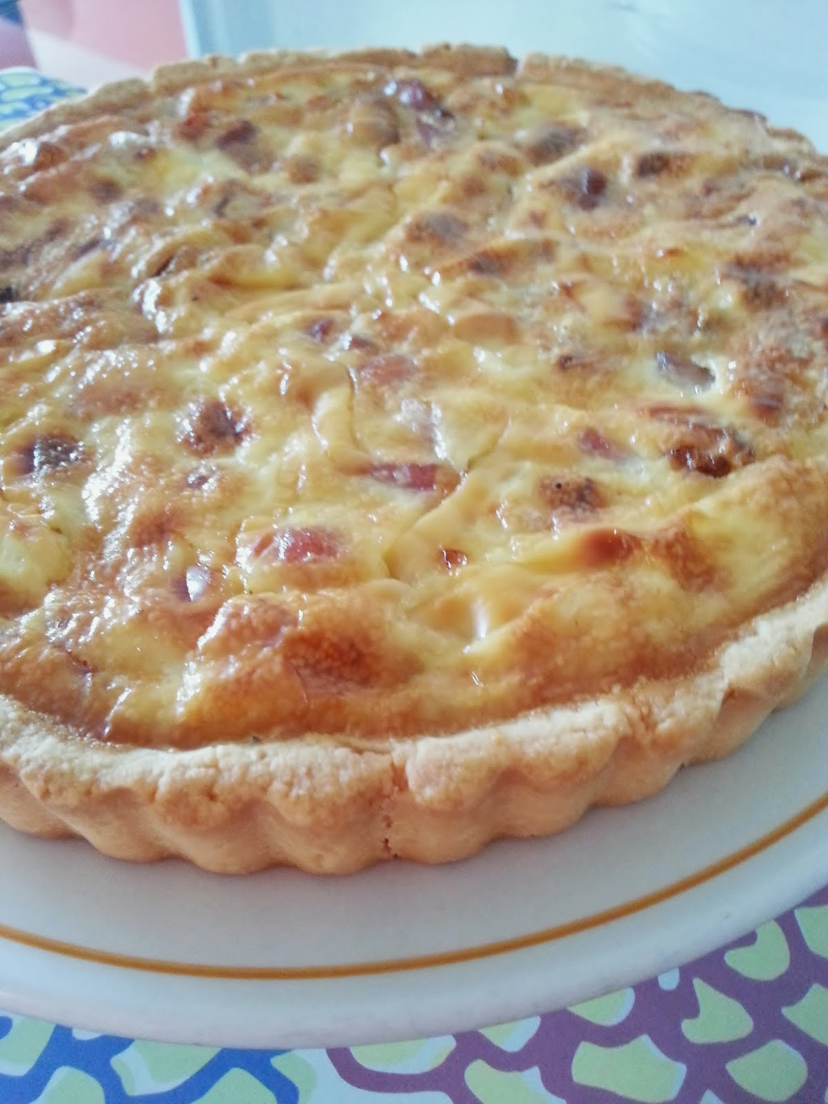 Bacon Onion Quiche Recipe |themoodkitchen