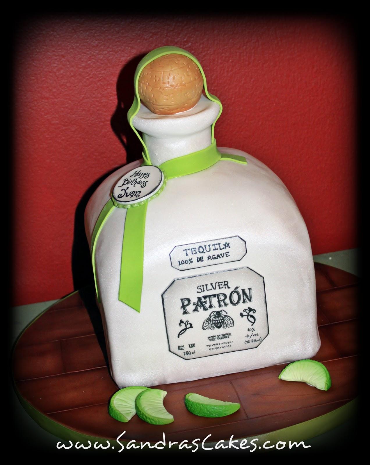 On Birthday Cakes Another Patron Bottle Cake - Patron birthday cake