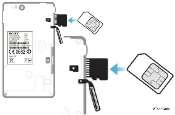 Sony XPeria go ST27i ST27a Insert microSD external Memory Card slot