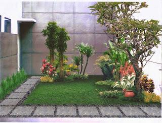 model rumah minimalis bertaman