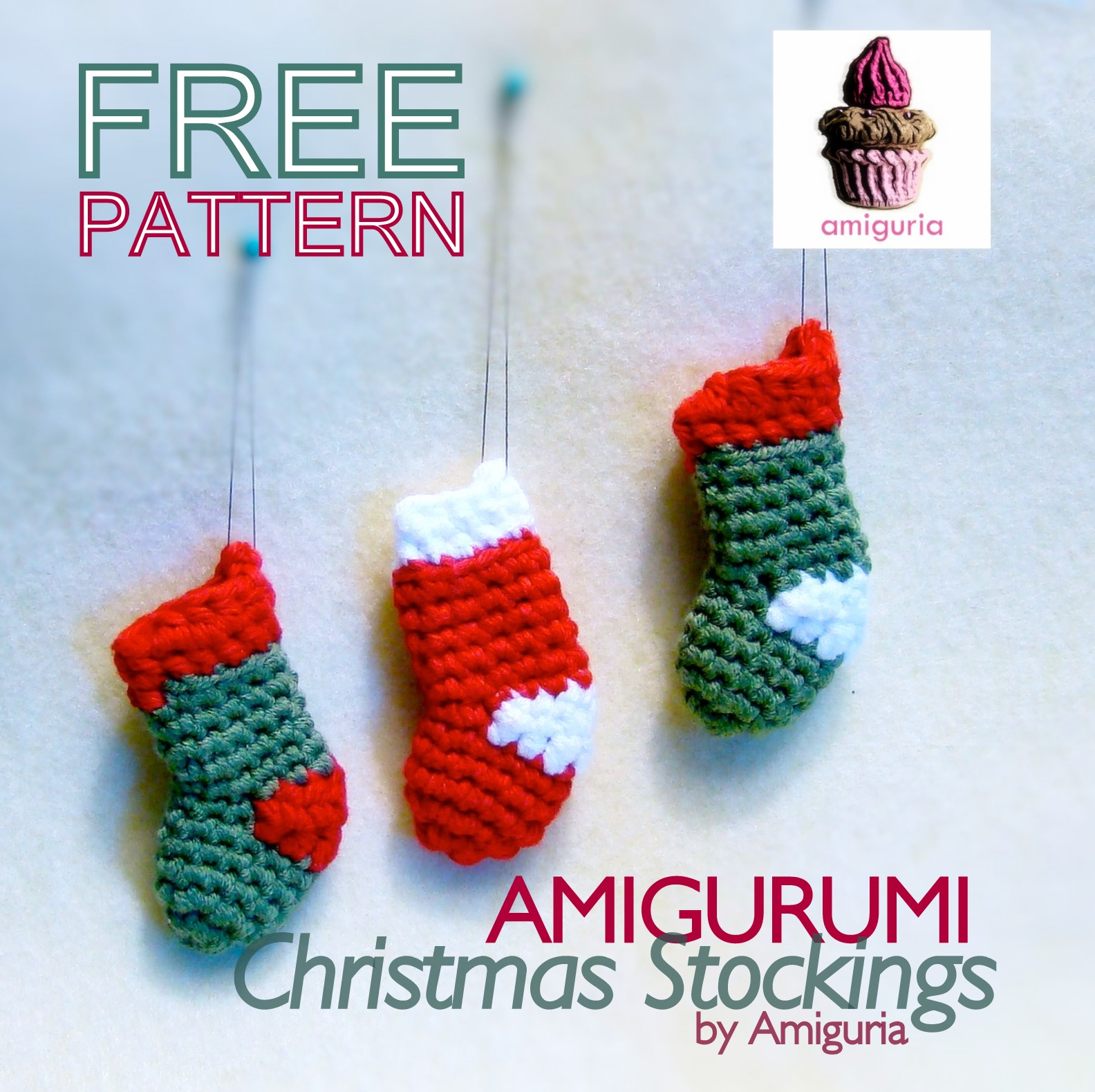 amiguria amigurumi: Free Pattern Christmas Stocking