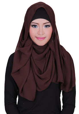 Hijab Pashmina Sifon Ceruti Polos