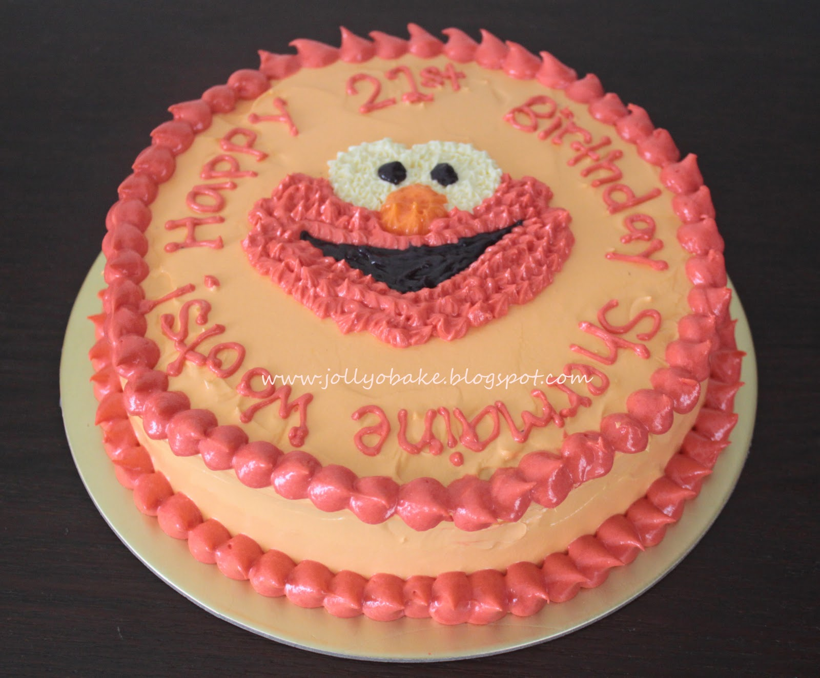 received an order for an elmo red velvet cake around 2 months ago