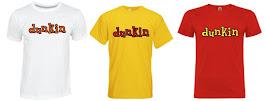 Camisetas Dunkin y otras marcas