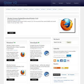 Glider V2 blog template. download blogger template magazine style blogs