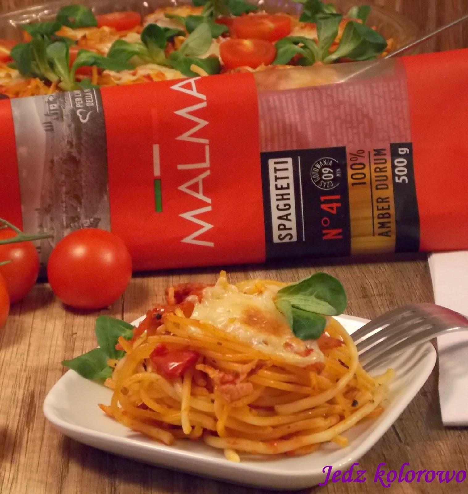 spaghetti zapiekane