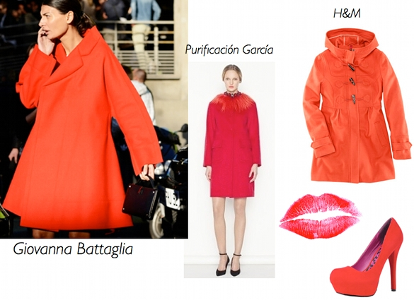 moda abrigos rojos