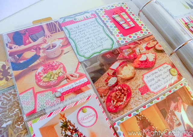 Christmas Project Life layout by MightyCrafty.me