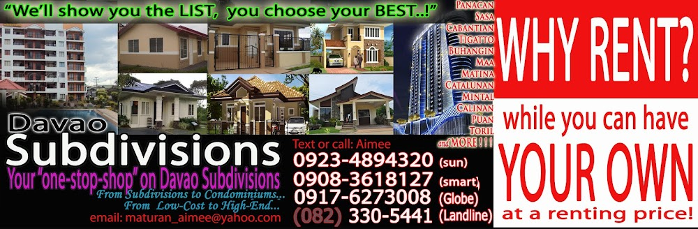 Davao Subdivision List - High end Davao City Subdivisions