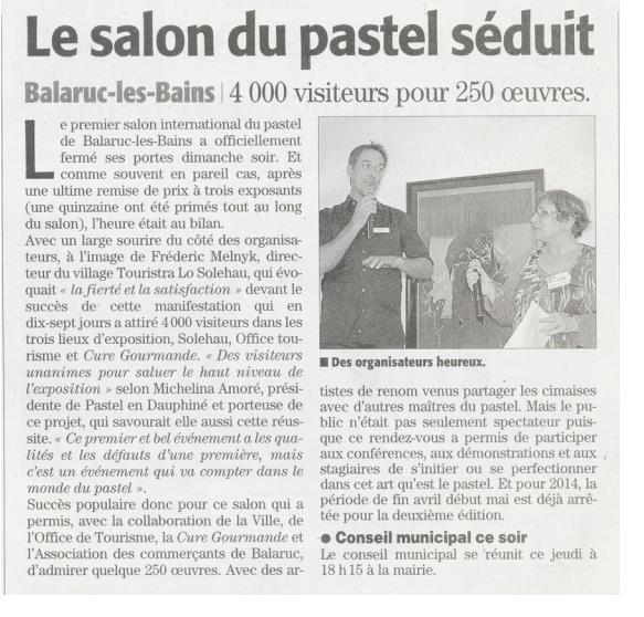Pastel en dauphin bilan du 1er salon international de pastel balaruc les bains 34 - Office du tourisme balaruc ...