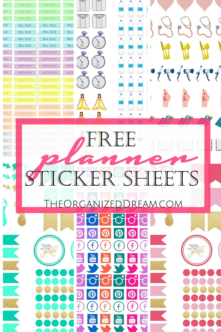 Galerry free printable daily planner stickers